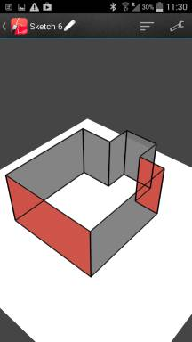 3D-floorplan. Walls can get measured in the same way.