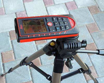 Leica Disto E7500i on rtipod for long distances